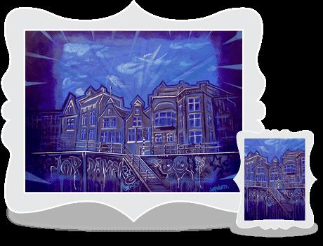 Schilderij Jopdamsko