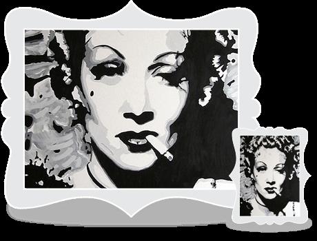 Schilderij Marlene
