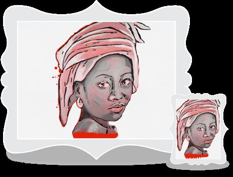 Schilderij African Lady