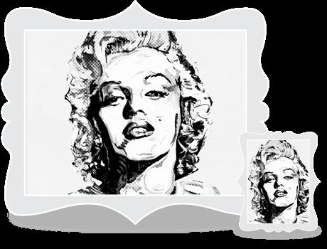 Schilderij Marilyn Monroe